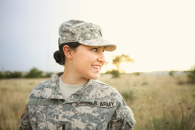 Military Member Smiling